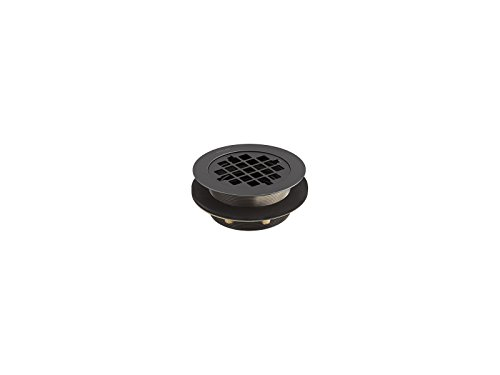 (Kohler 9132-BL Round Shower Drain For Use with Plastic Pipe, Matte Black)