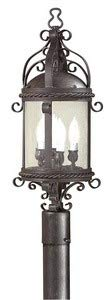 Troy Lighting Pamplona 4-Light Outdoor Post Lantern - Old Bronze Finish with Clear Seeded Glass ()