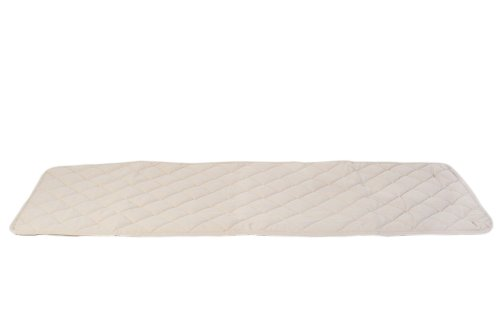 CPC Diamond Quilted Bed Scarf for Dogs and Cats, 30 x 97-Inch, Linen (Quilted Bed Dog Scarf)