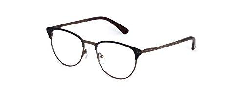 Angel Fire Women's Geneva Round Browline Matte Frame Non-prescription - Glasses Browline Prescription