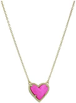 Kendra Scott Ari Heart Adjustable Length Pendant Necklace for Women, Fashion Jewelry