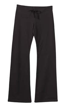 (Ladies' French Terry Lounge Pant; Color: Chocolate, Size:)