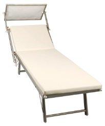 cuscino per lettino da spiaggia, piscina o giardino in tessuto sky ... - Lettino Per Spiaggia
