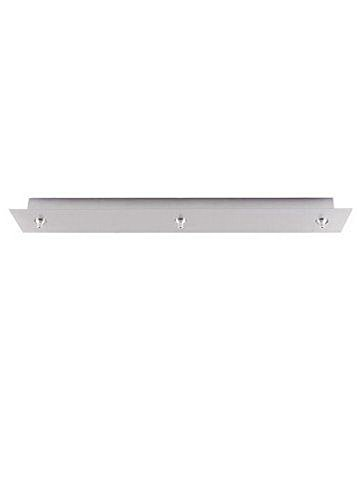 Fusion Jack Three Port Rectangular LED Canopy in Satin Nickel