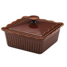 2 Quart Square Covered Casserole (Paula Deen 2 Quart Stoneware Covered Square Casserole Brown by Paula Deen)
