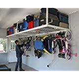 Deluxe Kit Garage - SafeRacks Overhead Garage Storage Combo Kit | Two 4 ft. x 8 ft. Racks (18