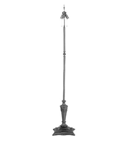 Meyda Tiffany 24668 Fluted Fleur Floor Lamp Base with 3 Light, (Fleur Base Lamp Bases)