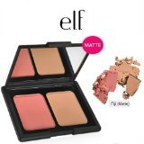 e.l.f. Cosmetics Contouring Blush & Bronzing Powder, Two Matte Shades Perfectly Contour Skin, Fiji