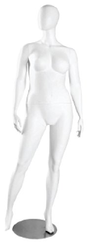 AMKO JANET/2 Female Headless Plus Size Mannequin, Arms by Side, Legs Apart,, Durable Construction, Quickly Assembled, Dismantled Enabling, Easy Dressing, Base, Foot & Calf Support by AMKO