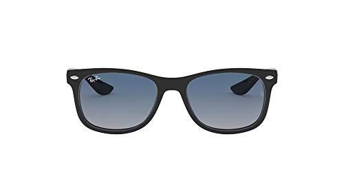 Ray-Ban Junior Kid's RJ9052S New Wayfarer Kids Sunglasses, Black/Blue Mirror Red Gradient, 48 mm (Ray-ban New Wayfarer Amazon)