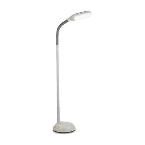 Kichler White Floor Lamp (Brightech - Litespan LED Reading & Crafting Floor Lamp - Dimmable Full Spectrum LED Light - Fully Adjustable Neck - 12 Watts - Alpine)