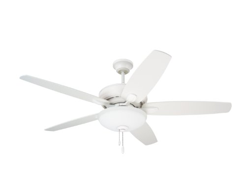 Emerson Ceiling Fans CF717SW Ashland, 52-Inch Low Profile Hugger Ceiling Fan With Light, Satin White Finish