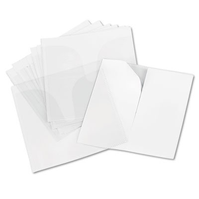Self-Adhesive CD/DVD Sleeves, 10/Pack, Sold as 2 Package by Innovera