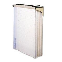 Sheet File Drop/Lift Wall Rack, 1-1/4w x 11-3/8d x 7-7/8h, Sand