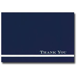 Amazon Com Midnight Blue Thank You Cards And White Envelopes 24