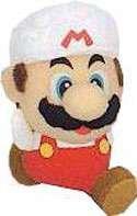 Super Mario Brothers BanPresto 3 Inch Plush Keychain Fire Mario