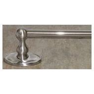 Top Knob Edwardian Bath 30'' Single Towel Rod - ED10BSNC - Brushed Satin Nickel - Oval Back Plate