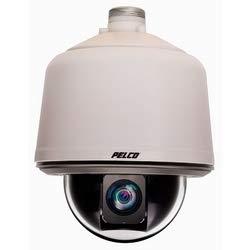(pelco S6230-YBL0 Network IP Camera, PTZ Dome, in-Ceiling, Environmental, 30X, 20MP HD, f/1.6 to f/4.7, 24 Volt AC/DC, Aluminum, Smoked Nylon Bubble, Black Back Box/Trim Ring, Low)