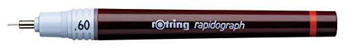 Rotring Rapidograph Technical Drawing Pen Junior Set, 3 Pens with Line Widths of 0.2mm to 0.6mm, Brown (S0699490) by Rotring (Image #3)