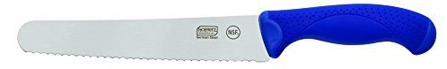 Hoffritz Commercial 5226094 Top Rated German Steel Bread Knife with Non-Slip Handle for Home and Professional Use, 8-Inch, Navy ()