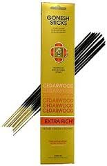 Gonesh Incense Sticks Extra Rich Collection: Cedarwood 12 Pack (20 Sticks/pack)