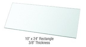 CRL 10'' x 24'' Rectangle 3/8'' Clear Tempered Glass Shelf - Pack of 3 by CRL (Image #2)