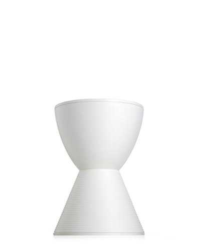 Kartell Prince AHA Stool by Philippe Starck, Pack of 1, Matte Wax White