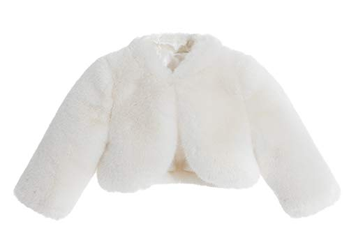 ekidsbridal Ivory Faux Fur Capes Flower Girl Bolero Cozy Fur Jacket Princess Cape Dress Cover Up Flower Girl Shrug Dress Coat 8