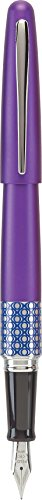 (Pilot MR Retro Pop Collection Fountain Pen, Purple Barrel with Ellipse Accent, Fine Nib, Black Ink (91434))