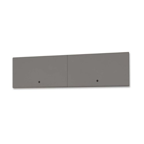 Lorell : Flipper Doors, Steel, 72'', Charcoal -:- Sold as 2 Packs of - 1 - / - Total of 2 Each by Lorell