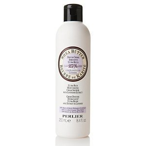 Perlier Lavender Bath - Perlier Shea Butter Ultra Rich Moisturizing Cream Shower with Lavender Extract with Certified Organic Shea Butter 8.4 Fl. Oz.