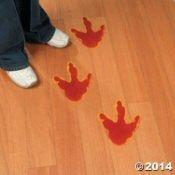 Fun Express Large Dinosaur Foot Print Floor Decal Clings   12 Pieces