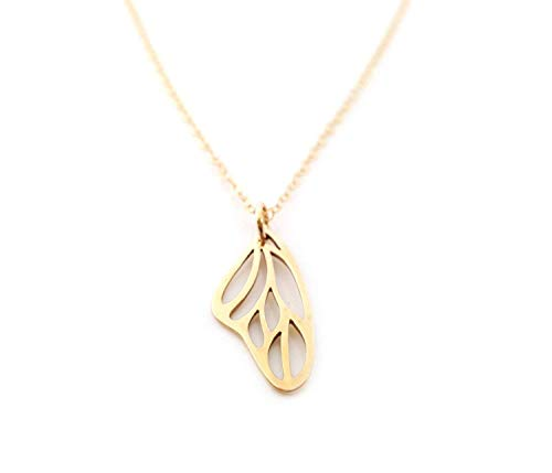 Butterfly Wing Charm Necklace - 14k Gold Filled Jewelry - Gift for Her