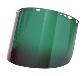 Radnor 9'' X 15 1/2'' X .060'' Green Shade 5 Polycarbonate Faceshield (3 Pack)