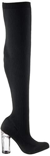 Knit Cuissardes Noir Bianco Black Boot 104 Femme Overknee wA5wct7q