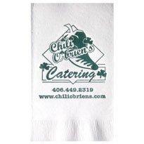 White 2-Ply Dinner Napkins - 500 napkins - Custom Printed