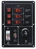 incluye mechero Bootskiste Panel de interruptores para barco para comprobaci/ón de bater/ía