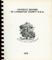 (Favorite Recipes of Livingston County Homemakers Extension)