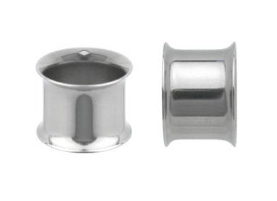 Cheater Panel (Giant Double Flared (00 Gauge) Silver Tunnel-Fashion Ear Plug)