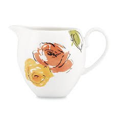 Lenox Kate Spade Charcoal Floral Creamer (Bone Kate Spade China Creamer)