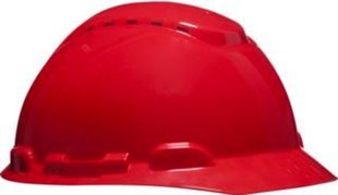 3M H700CRD - H700 Casco con ventilación, rojo, arnés estándar ...