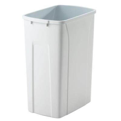 Knape & Vogt QT27PB-W Replacement Trash Can, 17.81-Inch by 10.65-Inch by 10.65-Inch