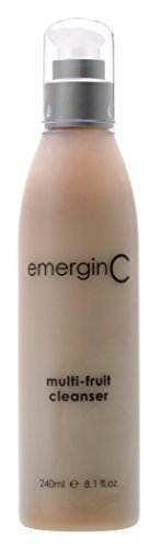 emerginC - Multi-Fruit Cleanser, Gentle Soap-Free Face Wash with Vitamin C & Natural Fruit Acids for All Skin Types, 240ml / 8.1oz by EmerginC