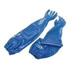 North NK803ES Blue 8 Nitrile Supported Chemical-Resistant Gloves - Rough Finish - 26 in Length - NK803ES/8 [PRICE is per PAIR]