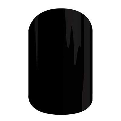Darkest Black Jamberry Nail Wraps | Glossy Black Nail Decal Design | Fun & Trendy Nail Art Stickers | Perfect Gift for DIY Easy Nail Art | 1 Half Sheet to do 1 Manicure & 1 Pedicure ()