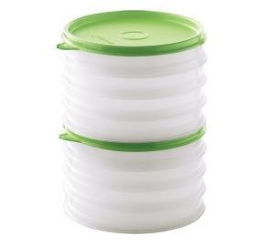 Amazoncom Tupperware Hamburger Keeper Container Set Sheer with