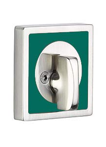 - Emtek Martinique Deadbolt Available in 7 Colors and 3 Styles (Single Sided Deadbolt, Sea Glass Green (GN))