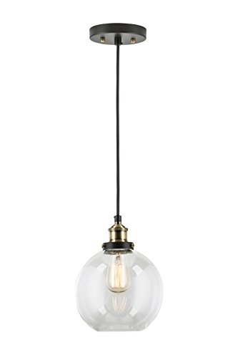 Primo Industrial Kitchen Pendant Light - Antique Brass Hanging Fixture - Linea di Liara LL-P429-AB by Linea di Liara (Image #6)