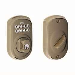 Schlage BE365VPLY626 Plymouth Keypad Deadbolt, Satin Chrome