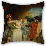 (Loveloveu 16 X 16 Inches / 40 By 40 Cm Oil Painting Francis Wheatley - Valentine Rescuing Silvia From Proteus, From Shakespeare's 'The Two Gentlemen Of Verona,' Act V, Sce Pillow Covers ,double Side )